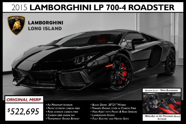 2015 lamborghini aventador lp 700 4 roadster - Lamborghini 2015 Aventador